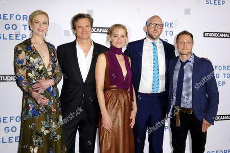 Stock Photo of Nicole Kidman, Colin Firth, Anne-Marie Duff, S J Watson and Rowan Joffe