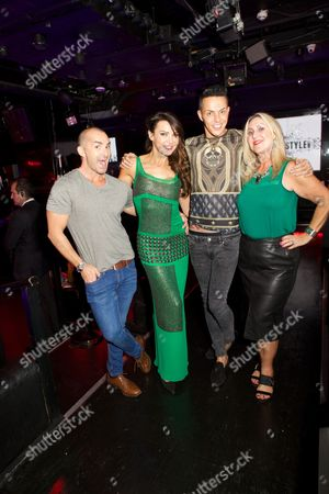 Louis Spence, Lizzie Cundy, Bobby Cole Norris and guest