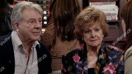 Coronation Street - Ep 8407 Wednesday 11 June 2014  Tina's mother, Ann [LORRAINE HODGSON] arrives on the street and talks at length about Tina to Rita Tanner [BARBARA KNOX] and Dennis Tanner [PHILIP LOWRIE]. Rob Donovan [MARC BAYLIS] introduces himself and offers to help in any way he can.