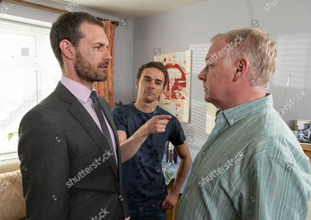 Coronation Street - 8417 Thursday 3 July 2014 Michael [LES DENNIS] is touched when Gail calls at his bedsit and gives him a shirt for his first day at work but when Nick Tilsley [BEN PRICE]  and David Platt [JACK P SHEPHERD] later arrive, he's left shaken when Nick menacingly tells him to stay away. When Gail calls at Street Cars, she's shocked to find that Michael never turned up. Will Michael be too scared to tell Gail the truth?