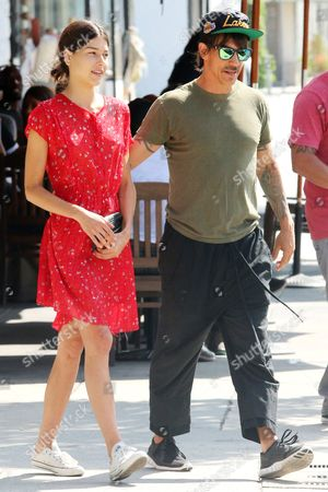 Editorial image of Anthony Kiedis and Helena Vestergaard out and about, Los Angeles, America - 03 Sep 2014