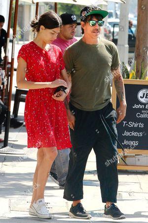 Stock Image of Helena Vestergaard and Anthony Kiedis