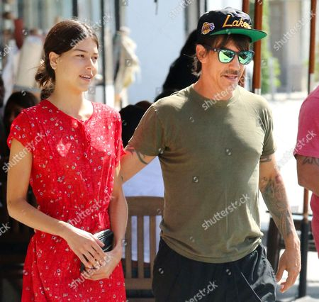 Editorial picture of Anthony Kiedis and Helena Vestergaard out and about, Los Angeles, America - 03 Sep 2014