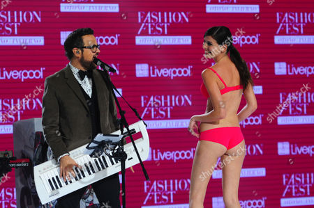Editorial picture of Alex Syntek in concert the Liverpool Fashion Fest Autumn / Winter 2014 l at the Americas Hippodrome, Mexico - 04 Sep 2014