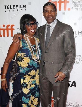 Pauletta Pearson and Denzel Washington