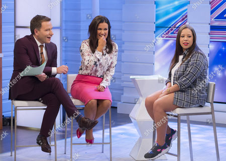 Richard Arnold and Susanna Reid with Kerrianne Covell