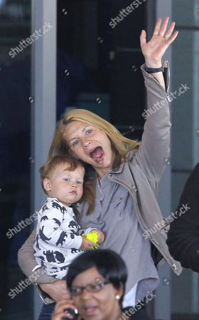 Editorial picture of Claire Danes and family at the airport arriving in Cape Town, South Africa - 07 Sep 2014