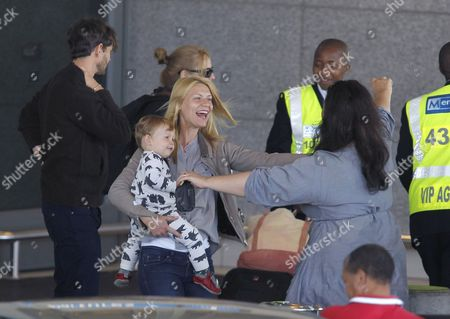 Editorial image of Claire Danes and family at the airport arriving in Cape Town, South Africa - 07 Sep 2014