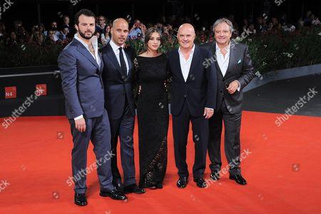 Edoardo De Angelis, Marco D'Amore, Simona Tabasco, Luca Zingaretti and Giampaolo Fabrizio