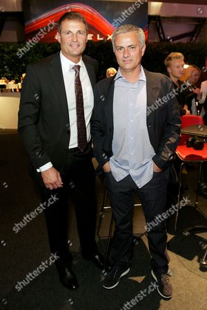 Phil Popham and Jose Mourinho