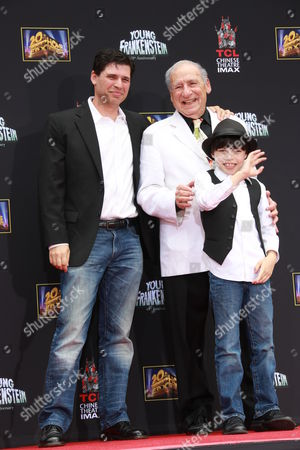 Mel Brooks with son Max Brooks and grandson