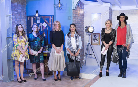 Giovanna Fletcher, Suzanne Shaw and Jenny Frost with pregnant women