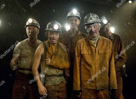 Stock Picture of Patrick Brennan as Chopper, Taylor Jay Davies as Chewy, Joshua Price as Mostyn, Clive Merrison as Bomber, Robert East as Hovis