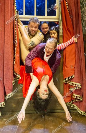 Editorial photo of 'The Play That Goes Wrong' Play performed at the Duchess Theatre. London, Britain, Britain - 6 Sep 2014