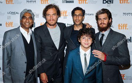 Ashok Amritraj, Michael Shannon, Noah Lomax, Ramin Bahrani and Andrew Garfield