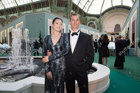 Gong Li and Philippe Leopold-Metzger, President de Piaget