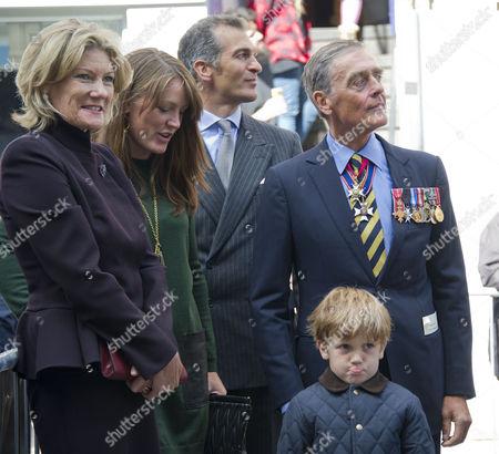 Natalia Grosvenor, Duchess of Westminster, Lady Tamara van Cutsem, Edward van Cutsem, the Gerald Grosvenor, 6th Duke of Westminster and Jake Louis Hannibal van Cutsem
