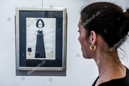 Barbara Hulanicki (1936 - ), Original Fashion Design BIBA - Black Shift Dress Abingdon Road 'Biba's Postal Boutique', 1964