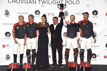 Editorial image of Chovgan Twilight Polo Gala and charity auction at Ham Polo Club, Richmond, Surrey, Britain - 10 Sep 2014