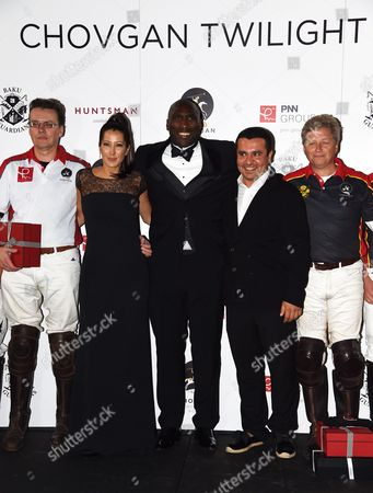 Editorial picture of Chovgan Twilight Polo Gala and charity auction at Ham Polo Club, Richmond, Surrey, Britain - 10 Sep 2014