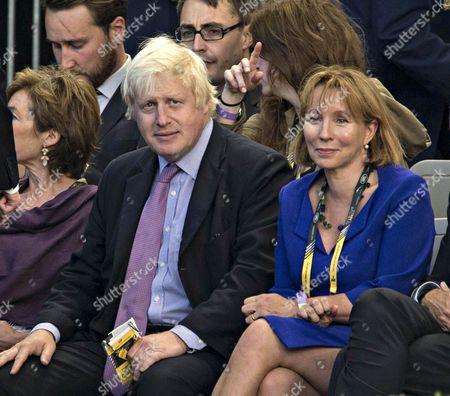 Boris Johnson and Sarah Sands