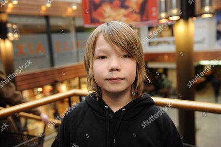 Child actor Onni Tommila at the screening of Rare Exports