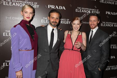 Stock Picture of Jess Weixler, Ned Benson, James McAvoy and Jessica Chastain