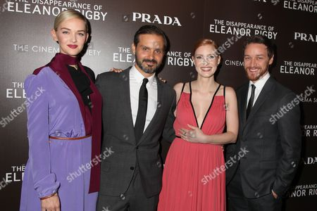 Jess Weixler, Ned Benson, James McAvoy and Jessica Chastain