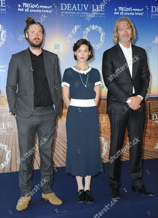Mike Cahill, Astrid Berges-Frisbey and Hunter Gray