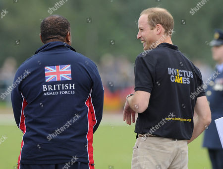 Stock Picture of Derek Derenalagi speak with Prince William