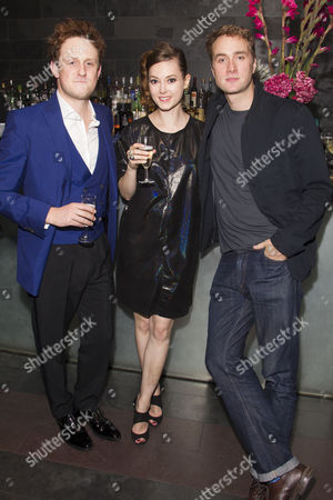 Richard Goulding (Harry), Lydia Wilson (Kate) and Oliver Chris (William)