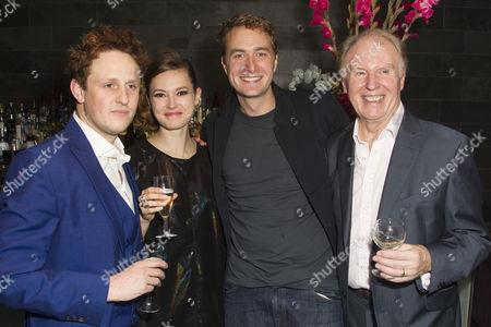 Richard Goulding (Harry), Lydia Wilson (Kate), Oliver Chris (William) and Tim Pigott-Smith (Charles)