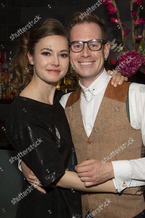 Lydia Wilson (Kate) and Tom Robertson (Couttsey/Clive/Sir Michael)