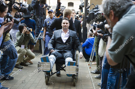 Carl Pistorius arrives