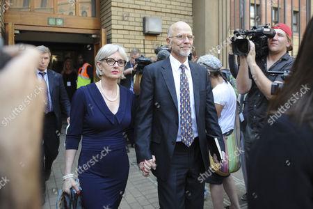 Lois and Arnold Pistorius leave the Pretoria High Court