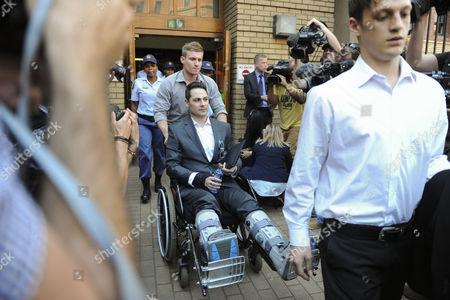Carl Pistorius leaves the Pretoria High Court