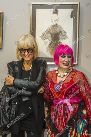 Barbara Hulanicki and Dame Zandra Rhodes