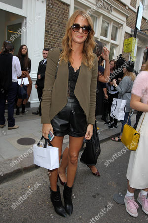 Editorial picture of Arrivals at Spring Summer 2015, London Fashion Week, London, Britain - 12 Sep 2014
