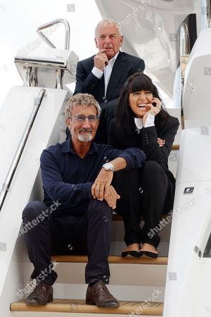 Sunseeker President and Founder Robert Braithwaite, Claudia Winkleman and Eddie Jordan
