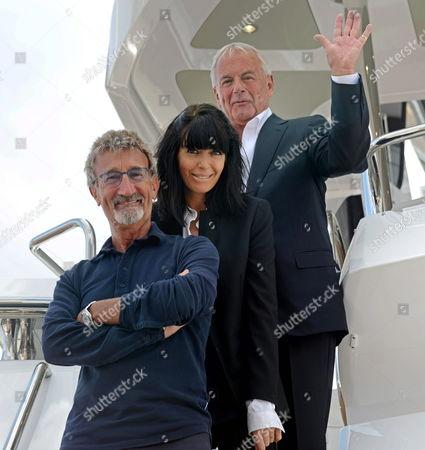 Claudia Winkleman with Eddie Jordan and Sunseeker President and Founder Robert Braithwaite