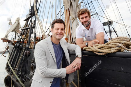 Matt Baker and Olympic Gold medallist Iain Percy