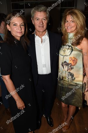 Natalie Massenet and John Frieda and Avery Agnelli