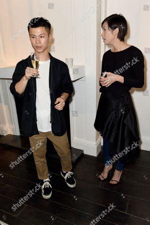 Minki Cheng & Dan Liu Minki Cheng SS15 Presentation at Bateman Street Gallery, London on the 14 September 2014.