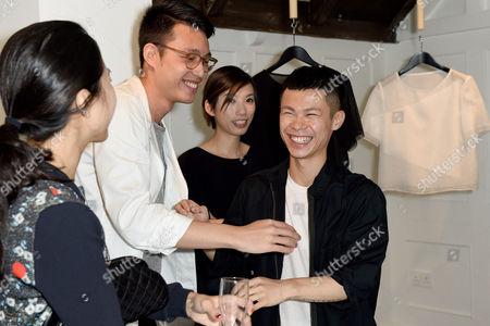 Dan Liu and Minki Cheng Minki Cheng SS15 Presentation at Bateman Street Gallery, London on the 14 September 2014.