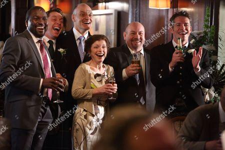 Stock Image of Delroy Brown, Ben Batt, David Prosho, Tony Mooney and Sean Maguire