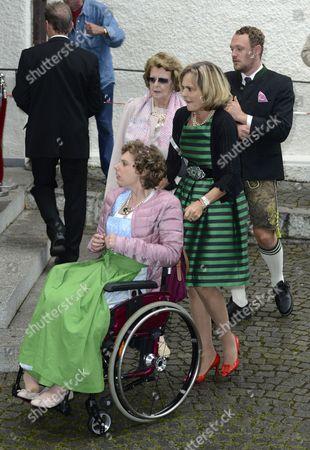 Maya von Schonburg - Glauchau and daughter Pilar Flick and son Alexander Flick
