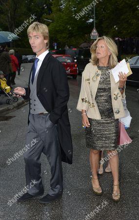 Princess Chantal von Hannover with son Prince Christian