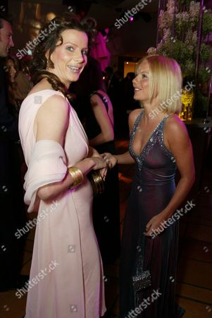 03-24-02 Beverly Hills, Ca Rachel Griffiths and Geri Haliwell at the 2002 Vanity Fair Oscar¿ Party. Held at Morton's Restaurant in Beverly Hills. Photo® Eric Charbonneau/BEI