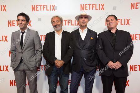 Samuel Benchetrit, Dan Franck, Pascal Breton and Florent Emilio-Siri
