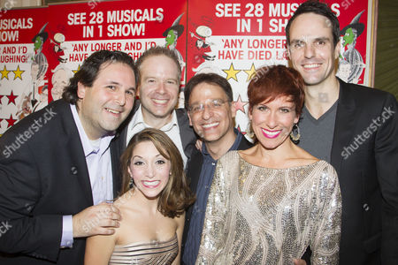 David Babani (Artistic Director), Christina Bianco (Cast), Damian Humbley (Cast), Joel Fram (Musical Director), Anne-Jane Casey (Cast) and Ben Lewis (Cast)